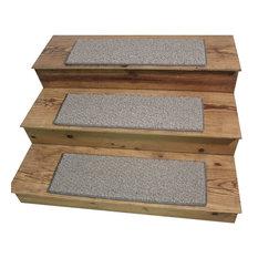 "Dog Assist Carpet Stair Treads 9""x27"" Weavers Guild Belgian Wool, Set Of 14"