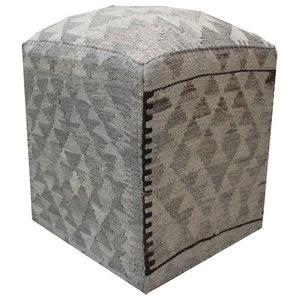 Natural Kilim Cube Stool 4