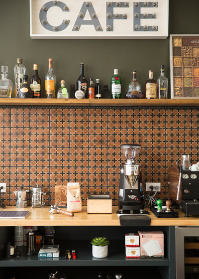 Houzz Tour Coffee And World Travel Inspire A Bachelor Pad