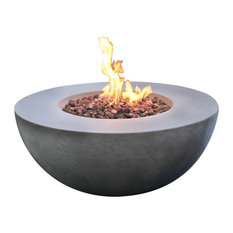 Modeno Roca Fire Pit Table Gray Durable Round Fire Bowl