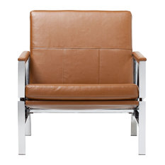 Studio Designs   Studio Atlas Chair Caramel Bonded Leather   Armchairs And  Accent Chairs