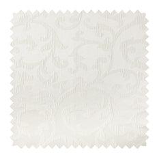 Deluxe Roman Shades Plain Fold, 48Wx50H Bermuda White