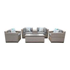 Florence 6 Piece Outdoor Wicker Patio Furniture Set 06d