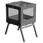 Global Outdoors - Global Outdoors Portable Fire Pit Grill - Assembly is quick and easy- no tools required