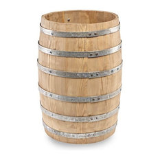 Wooden Display Beer Barrel, Small