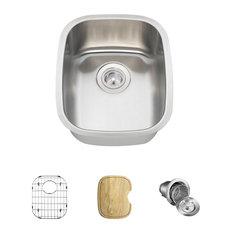 Stainless Steel Bar Sink, 16-Gauge, Ensemble