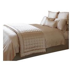 GINGERLILY   Nude Silk Flat Sheet, Double   Flat Sheets