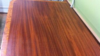 Antique mahogany dining room table refinish