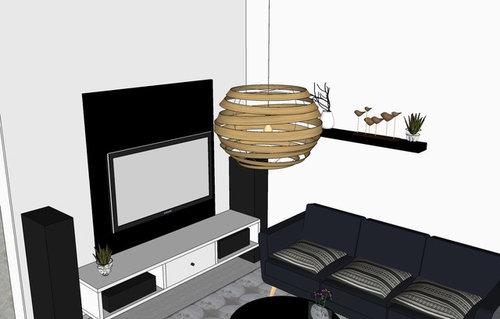 Hallo Ihr Lieben, Ich Suche Für Unseren Wohnzimmerbereich Eine Hängelampe,  ähnlich Wie In Diesem Google Sketchup Modell. Hat Jemand So Eine ähnliche  Schon ...