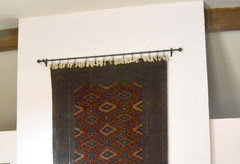 I Hang Navajo Rugs By Stitching Them To A Dowel (stained Or Painted To  Match The Rug) And Hang The Dowels. It Protects The Textile From Damage.