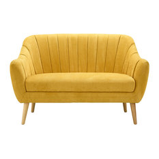 Premier Housewares Gottenburg Fabric Loveseat Yellow Sofas