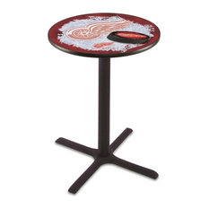 Detroit Red Wings Pub Table 36-inch by Holland Bar Stool Company