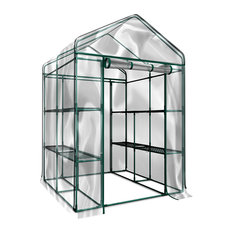 Walk-In Greenhouse-Indoor Outdoor With 12 Shelves by Home-Complete