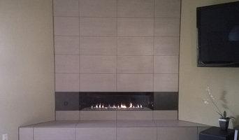 Bouma's fireplace