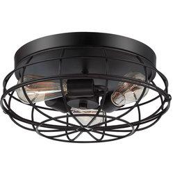 Industrial Flush-mount Ceiling Lighting by Lighting New York