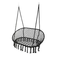 Macrame Double Hanging Seat, Black