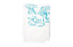 Girls Can Tell Unicorn Diagram Flour Sack Towel