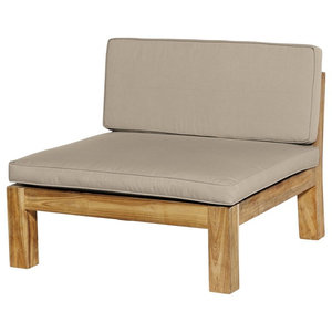 Recycled Teak Lounge Chair, 89 Cm