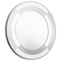 """Elan 84043 30"""" Diameter LED Round Mirror with a Frosted Face and Acrylic Shade"""