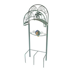 Liberty Garden Products   Dragonfly Hose Stand With Bib   Garden Hose Reels