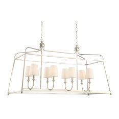 Sylvan 8 Light Chandelier in Polished Nickel
