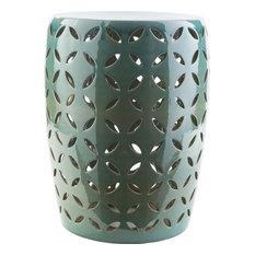 Chantilly Ceramic Stool, Teal