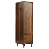 Sauder Clifford Place Storage Cabinet with File in Grand Walnut