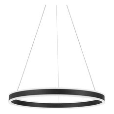 "Quoizel PCCA1824 Cadence Single Light 23-1/2"" Wide LED Ring Chandelier"
