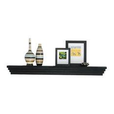 "Modern Fireplace Mantel Shelf, Unfinished, 8.5""x72"""