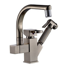Bon Fontana Showers   Courtenay Brushed Nickel LED Kitchen Sink Faucet With  Pull Out Spray   Kitchen