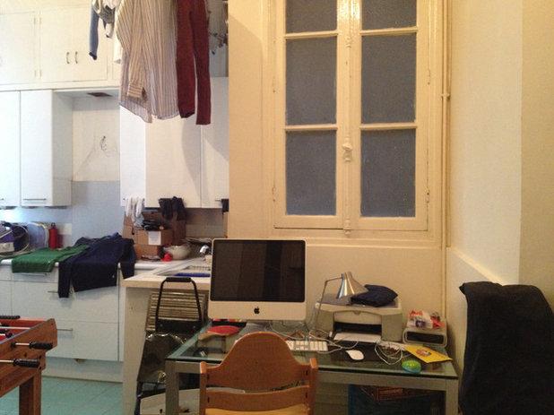 vorher nachher k che wird wohnlicher hauswirtschafts und arbeitsraum. Black Bedroom Furniture Sets. Home Design Ideas