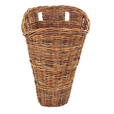 French Country Rattan Wall Basket 25""
