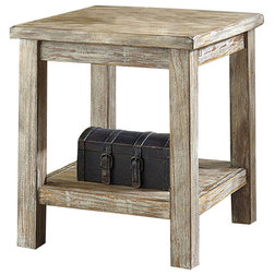 Side Tables And End Tables Rustic Accents End Table, Distressed Bisque