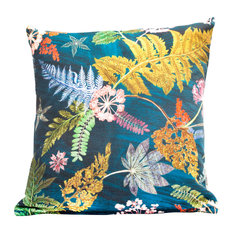Now That's Something Teal Floral Hollowfibre Scatter Cushion