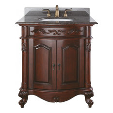 Provence - 30 in. Antique Cherry Vanity w Granite Top and Sink