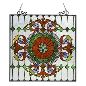 Chloe Lighting Tiffany-Glass Victorian Window Panel