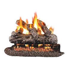 """Standard Rustic Oak Gas Logs, 36"""" Logs Only"""