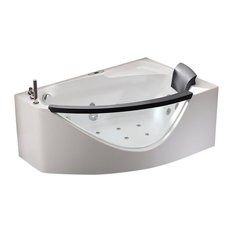 EAGO   EAGO 5 Ft Clear Rounded Left Corner Acrylic Whirlpool Bathtub    Bathtubs