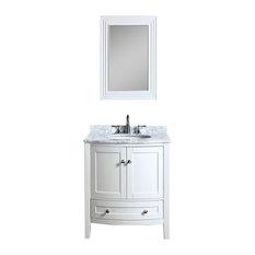 "Rome 30"" Vanity Set With Mirror, White"