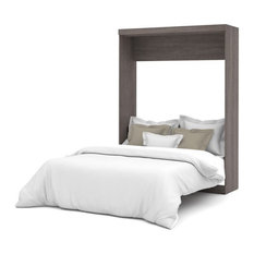Bestar Nebula Queen Wall Bed in Bark Grey