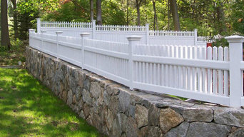 Picket Fence Installation on Stone Fence