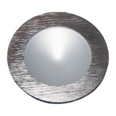 Alico Polaris LED Puk Light, Brushed Aluminum