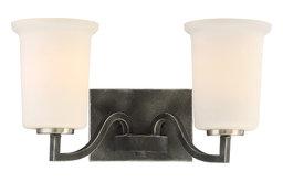 Nuvo Chester 2-Light Iron Vanity Light Fixture, Black