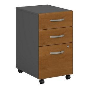 Scranton & Co 3 Drawer Pedestal File in Sierra Cherry ...