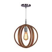 Woodbridge Lighting Celestial 1-Light Wood Pendant, Ash