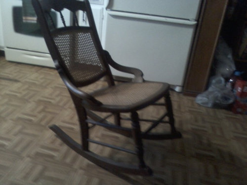 ... identify this antique rocking chair. We found it when we moved into our  current home. It's fairly small standing about 33 inches at its highest  point. - Help Identifying An Antique Rocking Chair