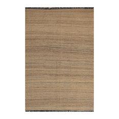 "ALRUG Handmade Beige/Brown Oriental  Tribal Kilim,  5' 9"" x 8' 3"""