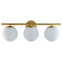 Aidan 3 Light Bathroom Sconce, Brushed Brass With Matte Frosted Glass