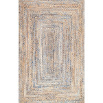 nuLOOM - Hand Braided Twined Jute and Denim Area Rug, Blue, 5'x8' - Made from the finest materials in the world and with the uttermost care, our rugs are a great addition to your home.