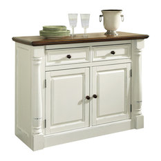 Home Styles Monarch Buffet in White and Oak Finish by Home Styles Furniture